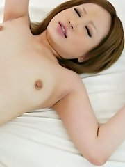 Ai Shirosakia Asian with appetizing boobs has vagina screwed