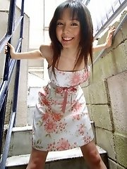 Yui Hasumi Asian teen model in her dress