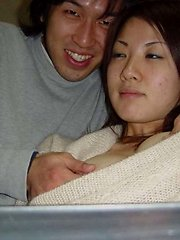 Pictures of an Asian hottie who went wild with her BF