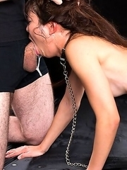 Facefuck whore Shino Aoi gets double teamed with both cocks stuffing her throat and her pussy!