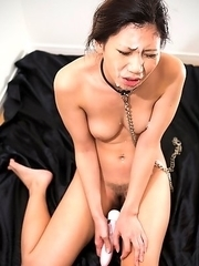 Aiku Kisaragi loves to be treated like a fuck toy slave and begs for cock until her face gets stuffed and covered with cum