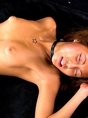 Japanese-American Nanami Sugisaki parties hard all the time but she wasnt prepared for todays face fuck party.